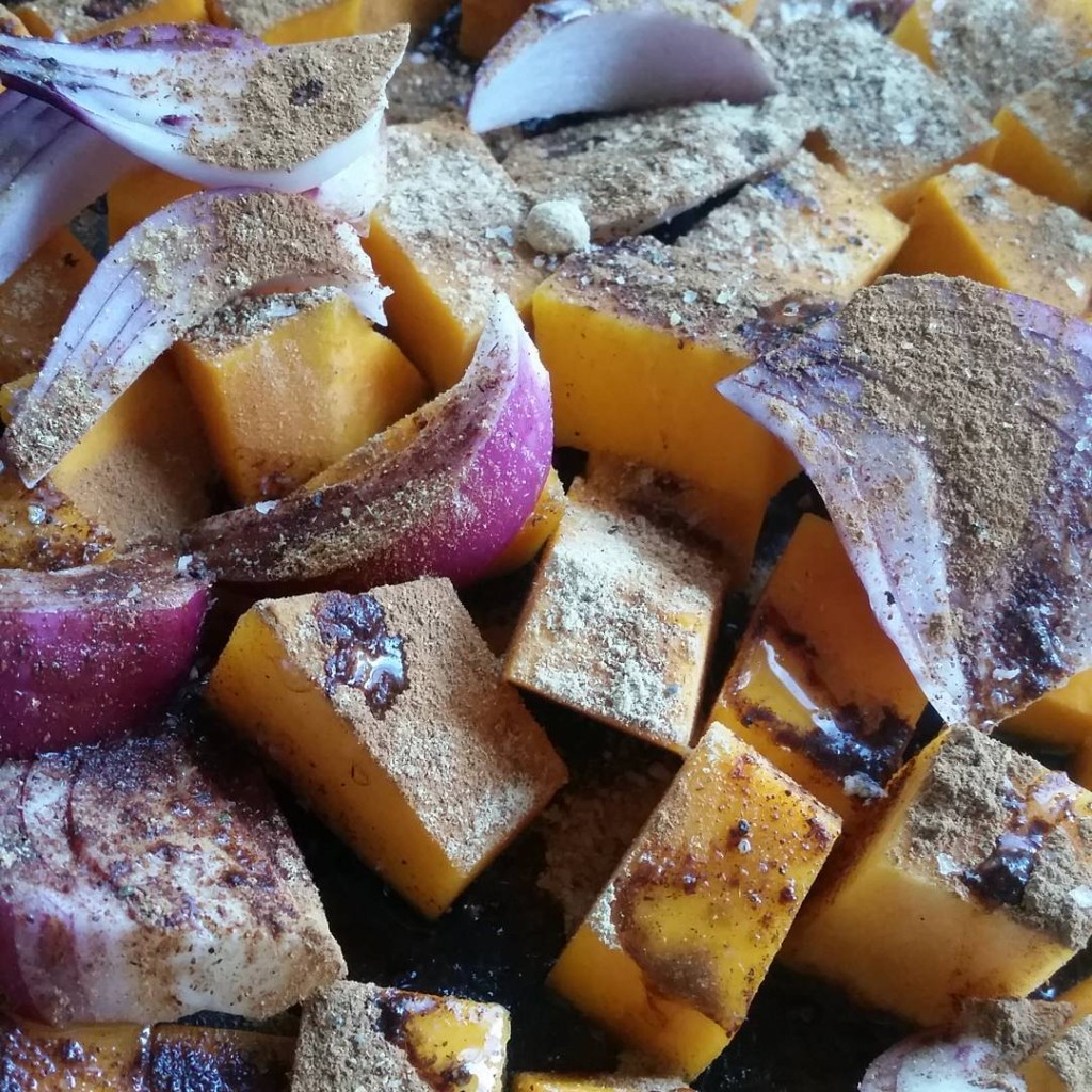 This is the start of a roasted spiced pumpkin andhellip