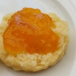 Scone w/apricot and vanilla jam.