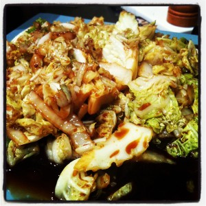Stir-fried cabbage with chinkiang vinegar