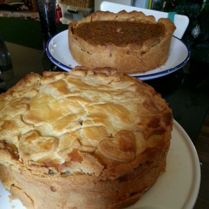 It's a pie of promise (with a quiche in the background for good measure)