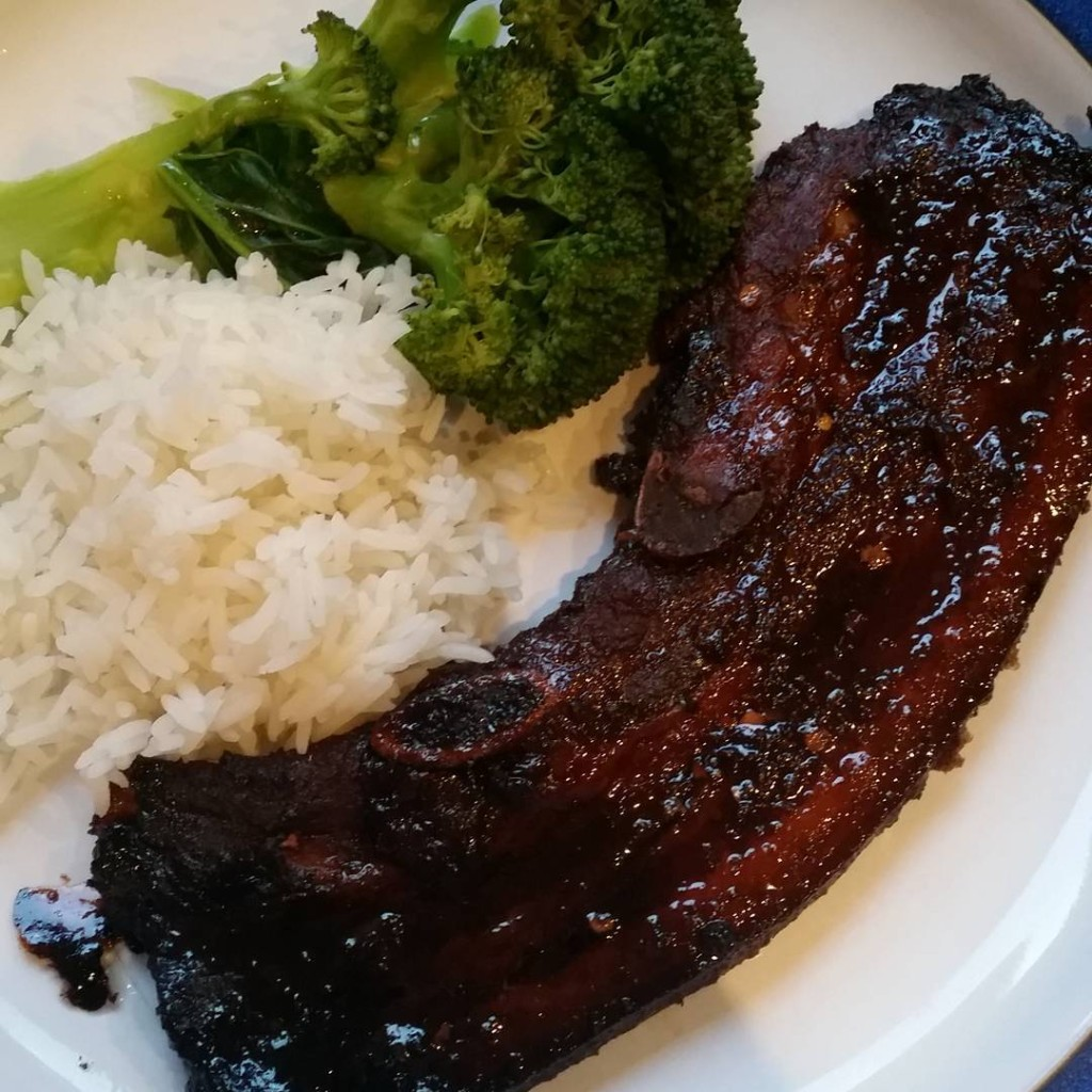 Asian pork spare ribs for everyfuckingnight Whats on your plate?