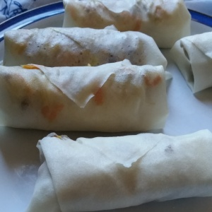 spring rolls pre-cooked