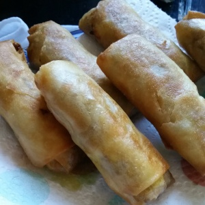 Spring rolls - cooked