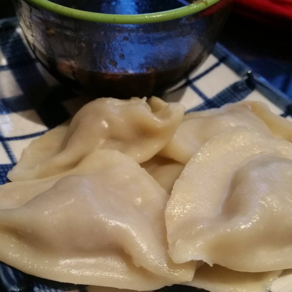 Dumplings with chinkiang black rice vinegar dipping sauce everyfuckingnight smashedhellip